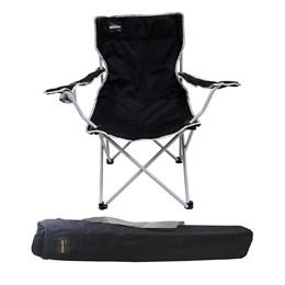 Cadeira Dobrável Alvorada Cor Preta com Porta Copo Nautika
