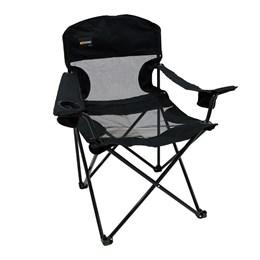 Cadeira Dobrável Fresno + Banqueta Dobrável Stool para Camping Nautika