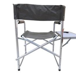 Cadeira Dobrável Nautika Diretor Cinza com Mesinha Lateral e Porta Copo