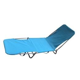 Cadeira Espreguiçadeira Importway Textilene Azul Suporta até 90 Kg