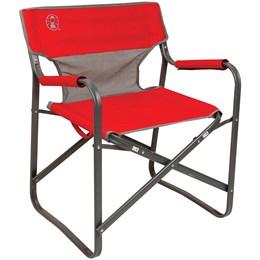 Cadeira Para Camping Dobrável Steel Deck Vermelha - Coleman