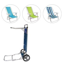 Cadeiras de Praia Reclináveis Coleman Go Com Carrinho de Praia MOR