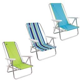 Cadeiras de Praia Reclináveis Três Cores 3 Unidades - Coleman Go Island