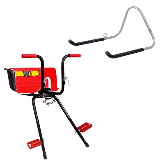 Cadeirinha Infantil Dianteira Bike Super Luxo + Suporte de Parede 1 Bike AL-05