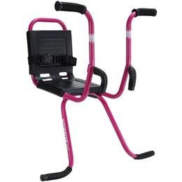 Cadeirinha Infantil Dianteira para Bicicletas com Cinto de Segurança Rosa - Altmayer AL-01