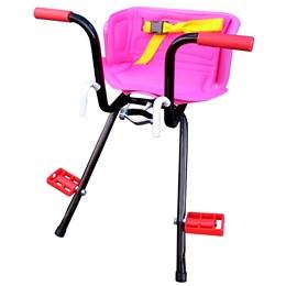 Cadeirinha Infantil Dianteira Rosa para Bicicleta Stilo Super Luxo