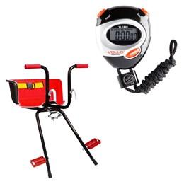 Cadeirinha Infantil Dianteira Super Luxo + Cronômetro Profissional VOLLO VL-1809