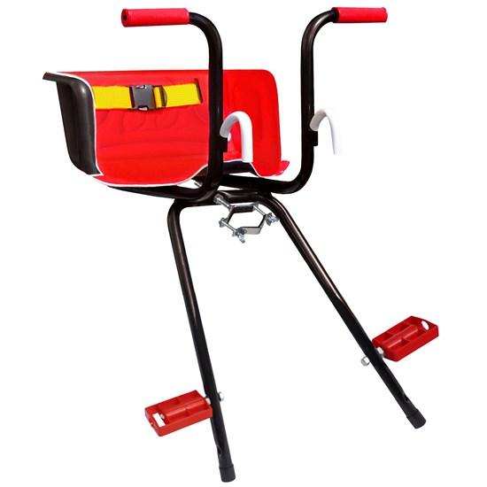 Cadeirinha Infantil Dianteira Vermelha para Bicicleta Stilo Super Luxo