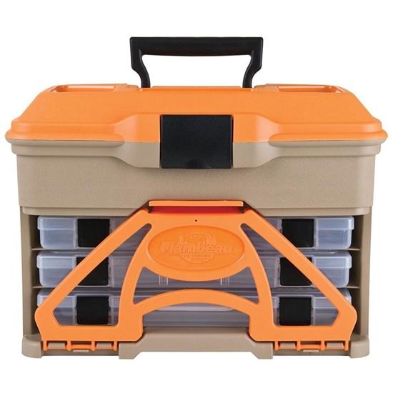 Caixa De Pesca com Divisórias Laranja - Flambeau T3 Mini Front Loader 6304 Tb