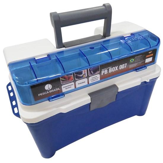 Caixa para Pesca com 3 Estojos Pesca Brasil PB BOX 007 Azul