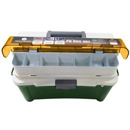 Caixa para Pesca com 3 Estojos Pesca Brasil PB BOX 007 Verde