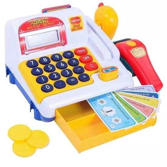Caixa Registradora Infantil Belfix com Scanner Som e Luzes