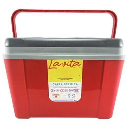 Caixa Térmica 12 Litros Lavita Vermelha + Garrafa Térmica Stanley 1L em Aço Inox