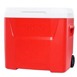 Caixa Térmica 26 Litros Igloo Laguna 28QT Roller 2020 Vermelho com Rodas