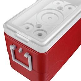 Caixa Térmica 28 QT 26,5 Litros Vermelha com Tampa Removível - Coleman