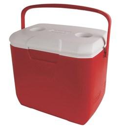 Caixa Térmica 30QT Vermelha 28,3 Litros Tampa Articulada com 2 Porta Copos - Coleman