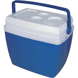 Caixa Térmica 34 Litros com Alça e Porta Copos + Carrinho para Caixa Térmica - MOR