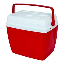 Caixa Térmica 34 Litros Vermelha Com Alça - MOR