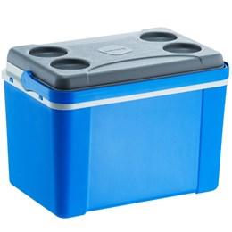 Caixa Térmica 34L Lavita com Alça Azul + Copo Térmico 473 ml com Tampa Stanley
