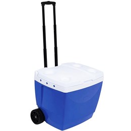 Caixa Térmica 42 Litros MOR 25108221 com Alça e Rodas Azul