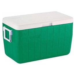 Caixa Térmica 45,4L Coleman 48 QT + Garrafa Térmica Stanley Adventure 1L Verde