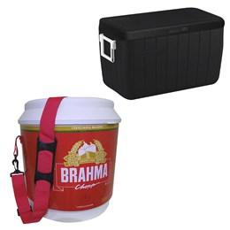 Caixa Térmica 45,4L Coleman All Black + Cooler Térmico Brahma 20L 12 Latas