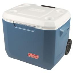 Caixa Térmica 47,5 Litros Coleman com Alça e Rodas 50 QT Marine Xtreme Azul