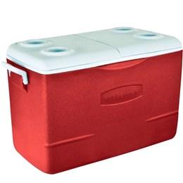 Caixa Térmica 47 Litros 50 QT com Alças Laterais Vermelho - Rubbermaid