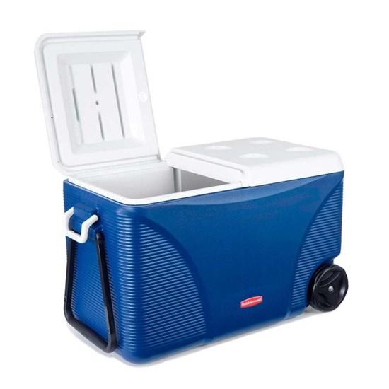 Caixa Térmica 70 Litros 75 QT Azul com Rodas - Rubbermaid