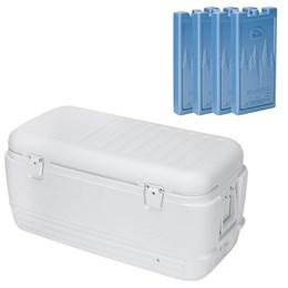Caixa Térmica 95 Litros Quick & Cool 100 QT Igloo + 4 Gelos Artificiais Médio