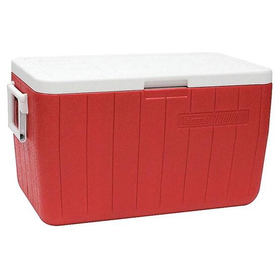 Caixa Térmica Coleman 48 QT 45,4 Litros Vermelha