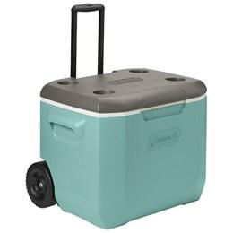 Caixa Térmica Coleman 56,7 Litros 60 QT Verde com Rodas e Alça Ajustável