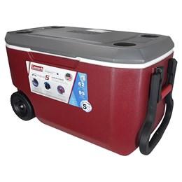 Caixa Térmica Coleman Xtreme 5 58,7 L 62 QT com Rodas e Alças Vermelha