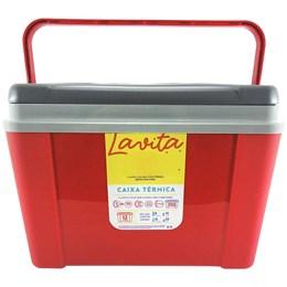 Caixa Térmica Lavita 12 Litros Vermelha com Alça