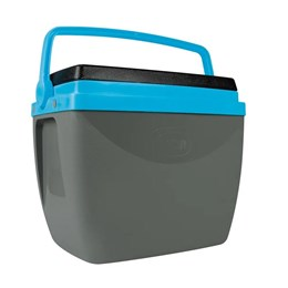 Caixa Térmica MOR 18 Litros para Camping Cinza e Azul