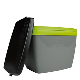 Caixa Térmica MOR 6 Litros para Camping Cinza e Verde