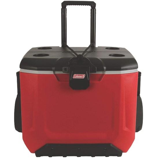 Caixa Térmica Rugged 55QT 51 L Coleman Vermelha com Rodas e Alça
