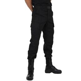 Calça Masculina Tática Elite Comandos Rip Stop Preta
