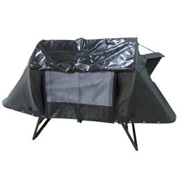 Cama Tatu Casal Dobrável para Camping Fácil Montagem Verde Militar