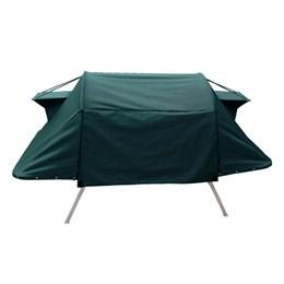 Cama Tatu Solteiro Dobrável para Camping Fácil Montagem Verde Militar