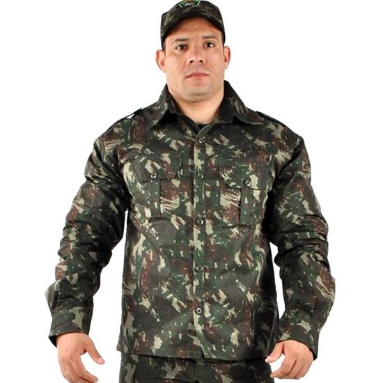 Camisa Manga Longa Masculina Elite Comandos Adventure Camuflada