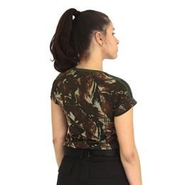 Camiseta Baby Look Feminina Atacado Militar Camuflada EB