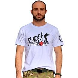 Camiseta Bravo Evolução Airsoft Branca