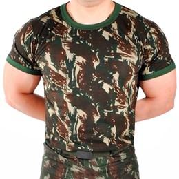 Camiseta Camuflada Masculina Padrão EB Atacado Militar Airsoft
