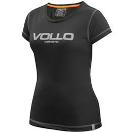 Camiseta Feminina VOLLO Silver Preta Dry Fit