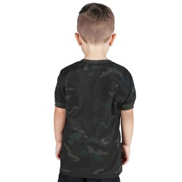 Camiseta Infantil Bélica Soldier Multicam Black