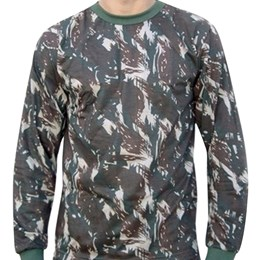 Camiseta Manga Longa Atacado Militar Camuflada Padrão EB Airsoft