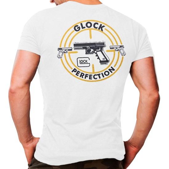 Camiseta Masculina Atack Militar Glock Branca Airsoft