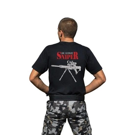 Camiseta Masculina Atack Militar Sniper Preta Airsoft
