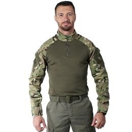 Camiseta Masculina Bélica Combat Shirt Soft Multicam Camuflada